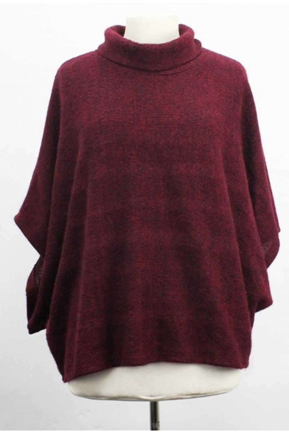 Batwing Cowl Neck Poncho