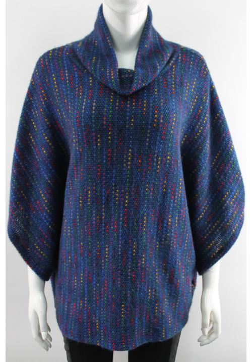 Rainbow High neck Poncho (Vertical pattern)