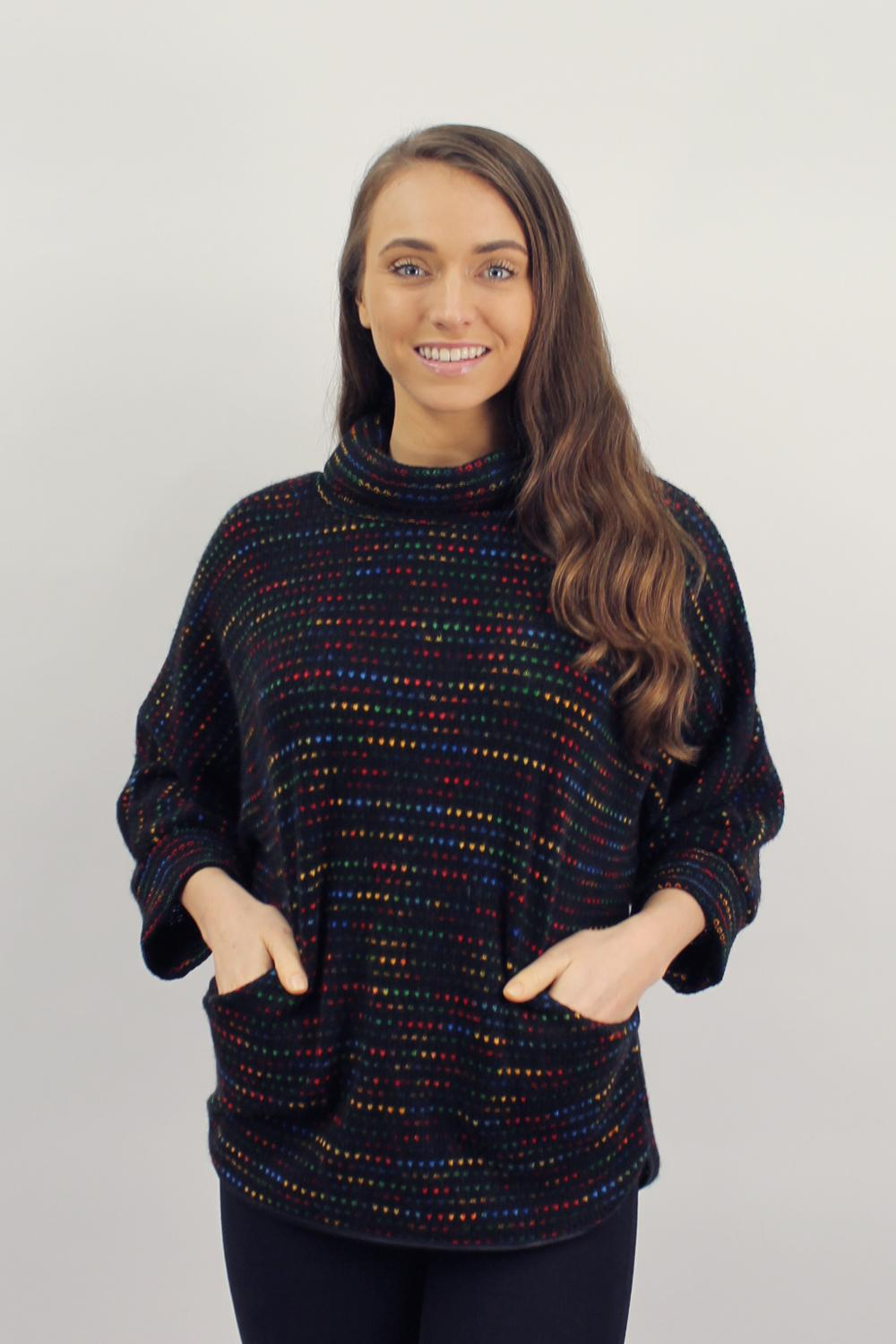 Rainbow Poncho with pockets