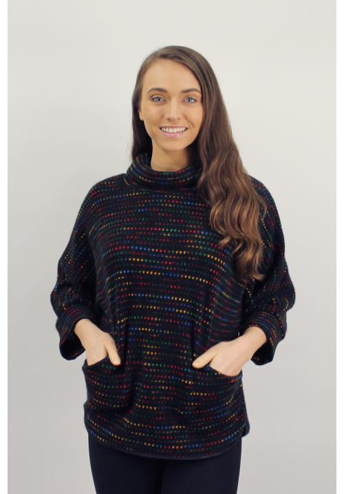 Rainbow High neck Top with Pockets