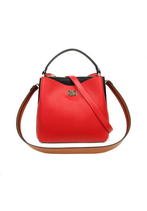 Boxy Tote Bag Red