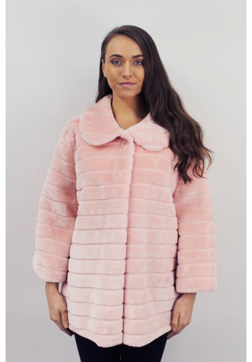 One Button Mink Coat