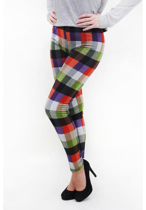 Women's Leggings with Check Prints
