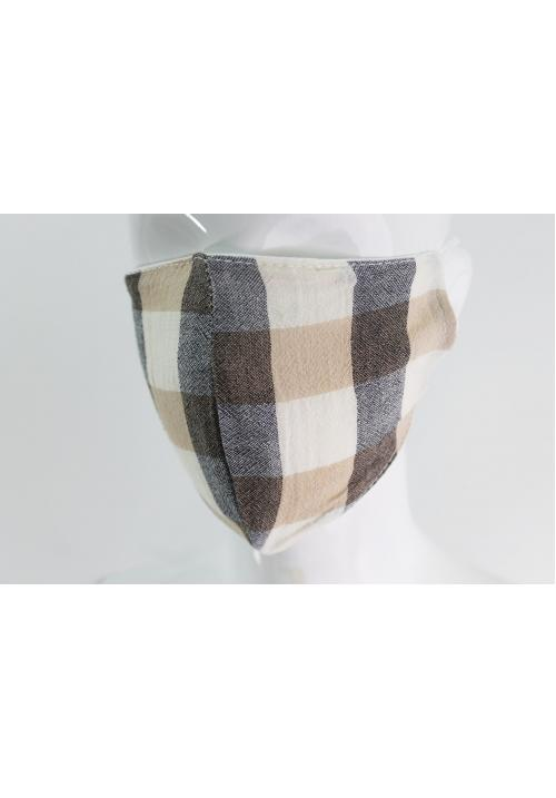 Beige Check Mask
