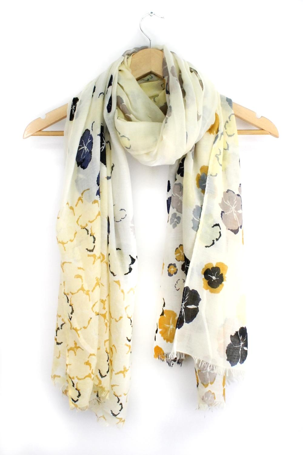 Morning Glory Scarf - Lemon