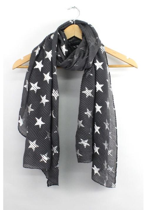 Star Scarf - Dark Grey