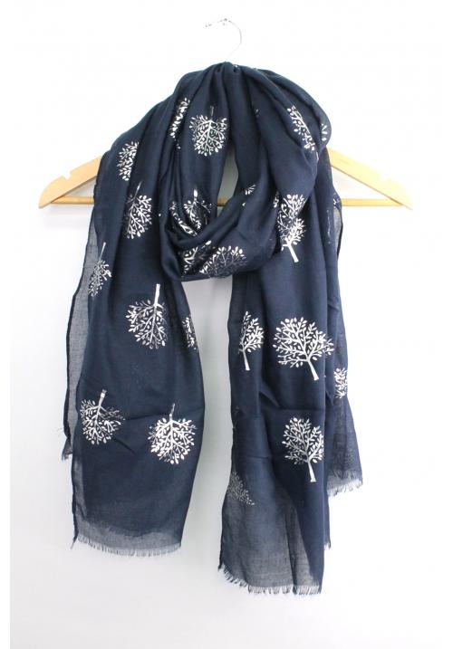 Mulberry tree scarf - Navy