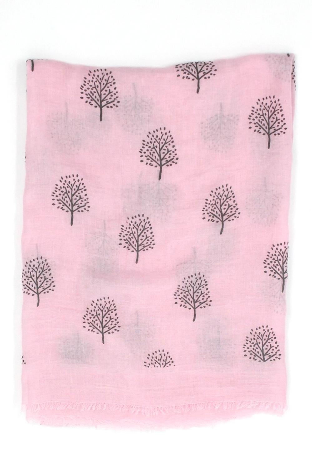 Mulberry tree scarf - pink