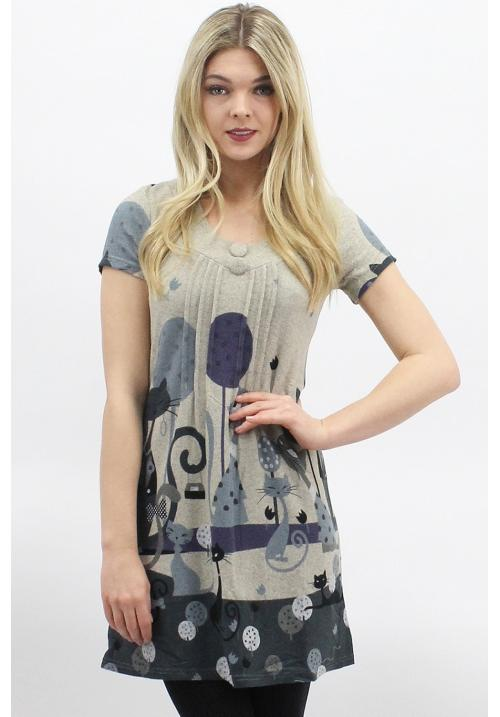 Lazy Cats Grey Tunic