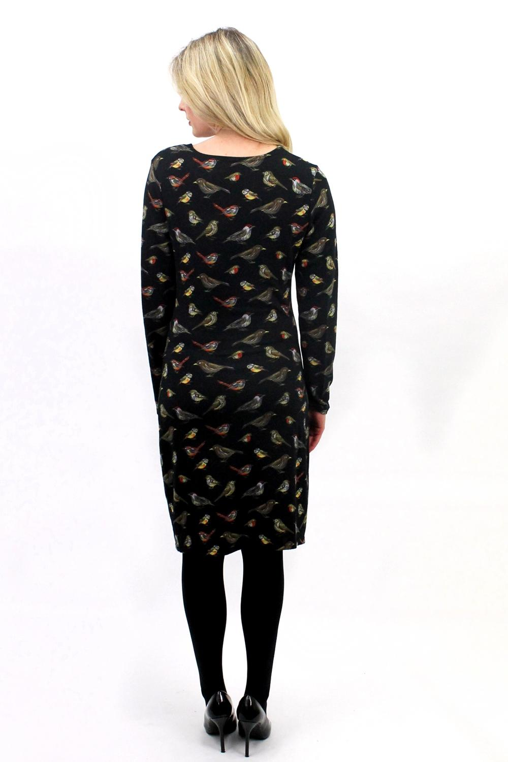 Robin Birds Wrap Dress