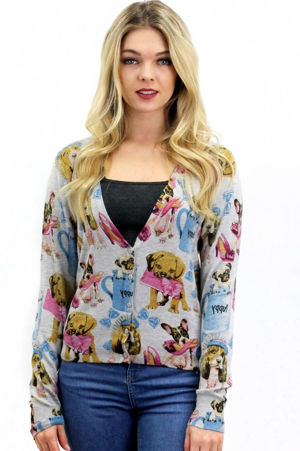 Pinky Puppies Cardigan Grey