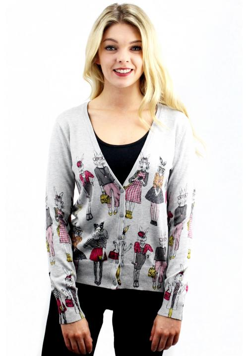 Stylish Bunnies Cardigan Grey