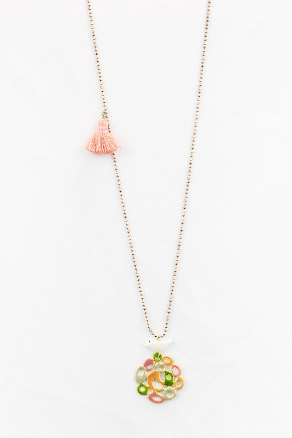 Gold Plated Necklace With A Sweet White Bird